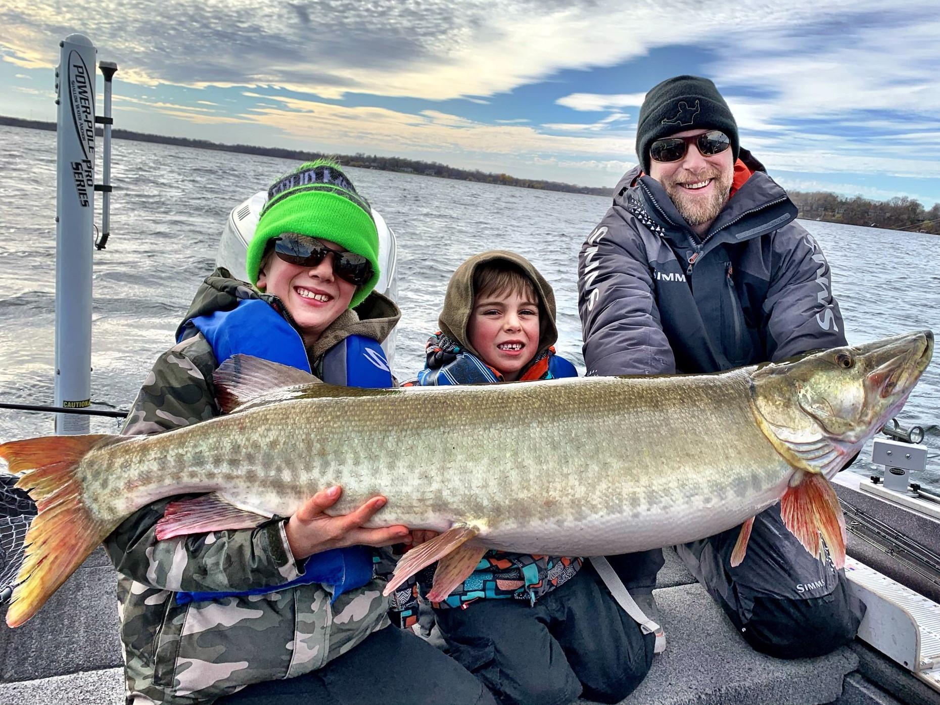 Matt with kids Musky Photo